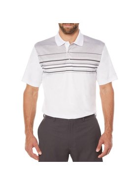 55691c22ed Product Image Big Men s Performance Short Sleeve Stripe Golf Polo Shirt