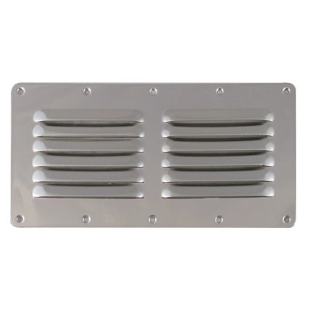 Stamped Aluminum 4 Louver (White Water 7723S Marine Boat Stainless Stamped Louvered Vent, 9