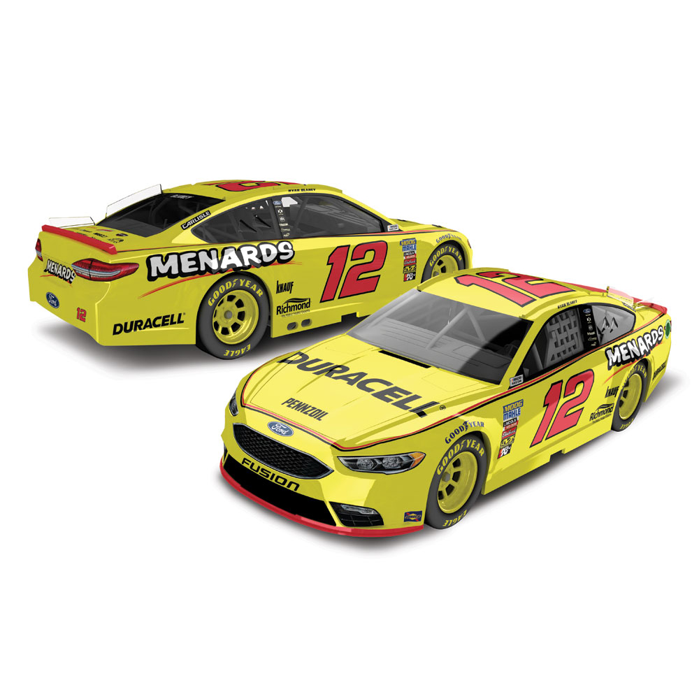Ryan Blaney Action Racing 2018 #12 Menard's/Duracell 1:64 Regular Paint Die-Cast Ford Fusion - No Size