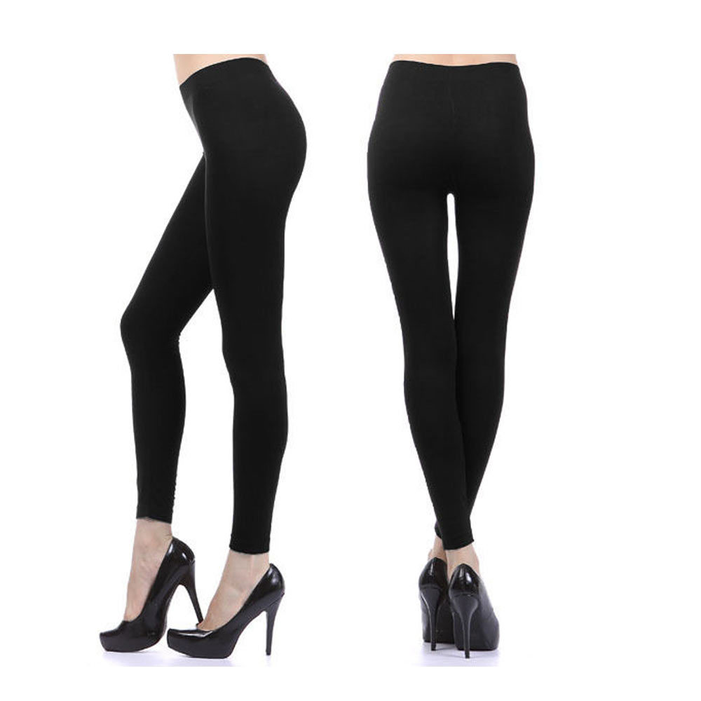 90ba0e65db459 AllTopBargains - Women Fleece Lined Pants Leggings Thick Tight Warm Thermal  Winter Footless Long - Walmart.com
