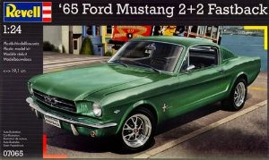 Model Kit - 65 Ford Mustang 2+2 Fastback - 1:24 Scale Multi-Colored