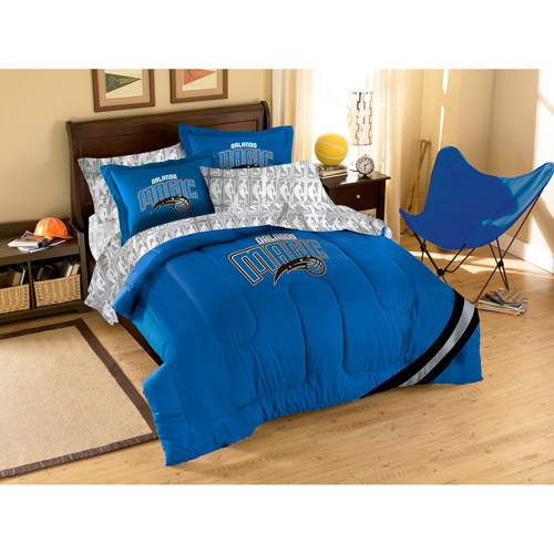 NBA Applique 3-Piece Bedding Comforter Set, Magic