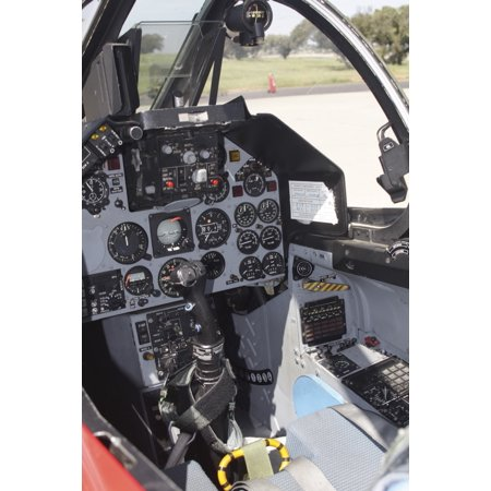 Portuguese Air - Cockpit view of a Portuguese Air Force Alpha Jet Beja Air Base Portugual Poster Print