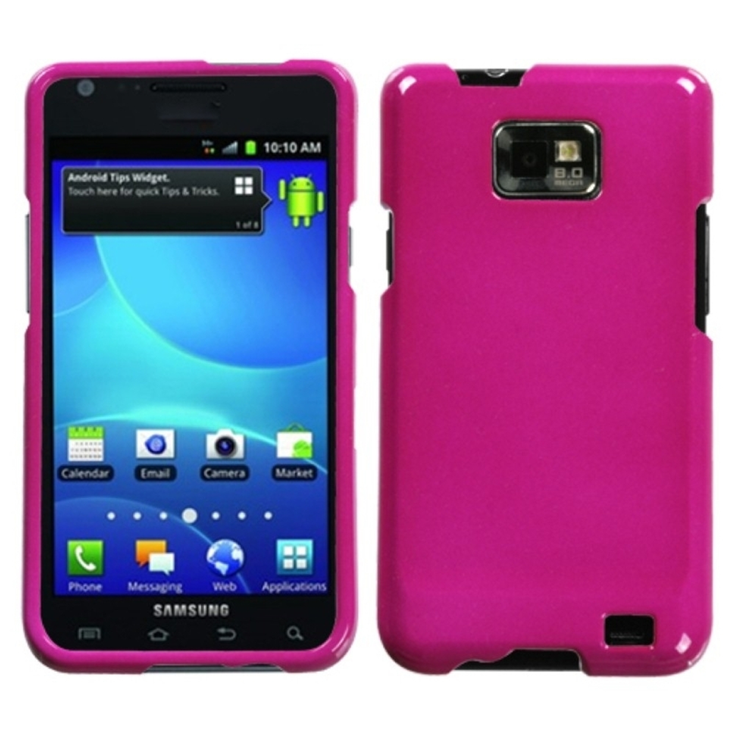 Insten Solid Hot Pink Phone Case for SAMSUNG: I777 (Galaxy S II)