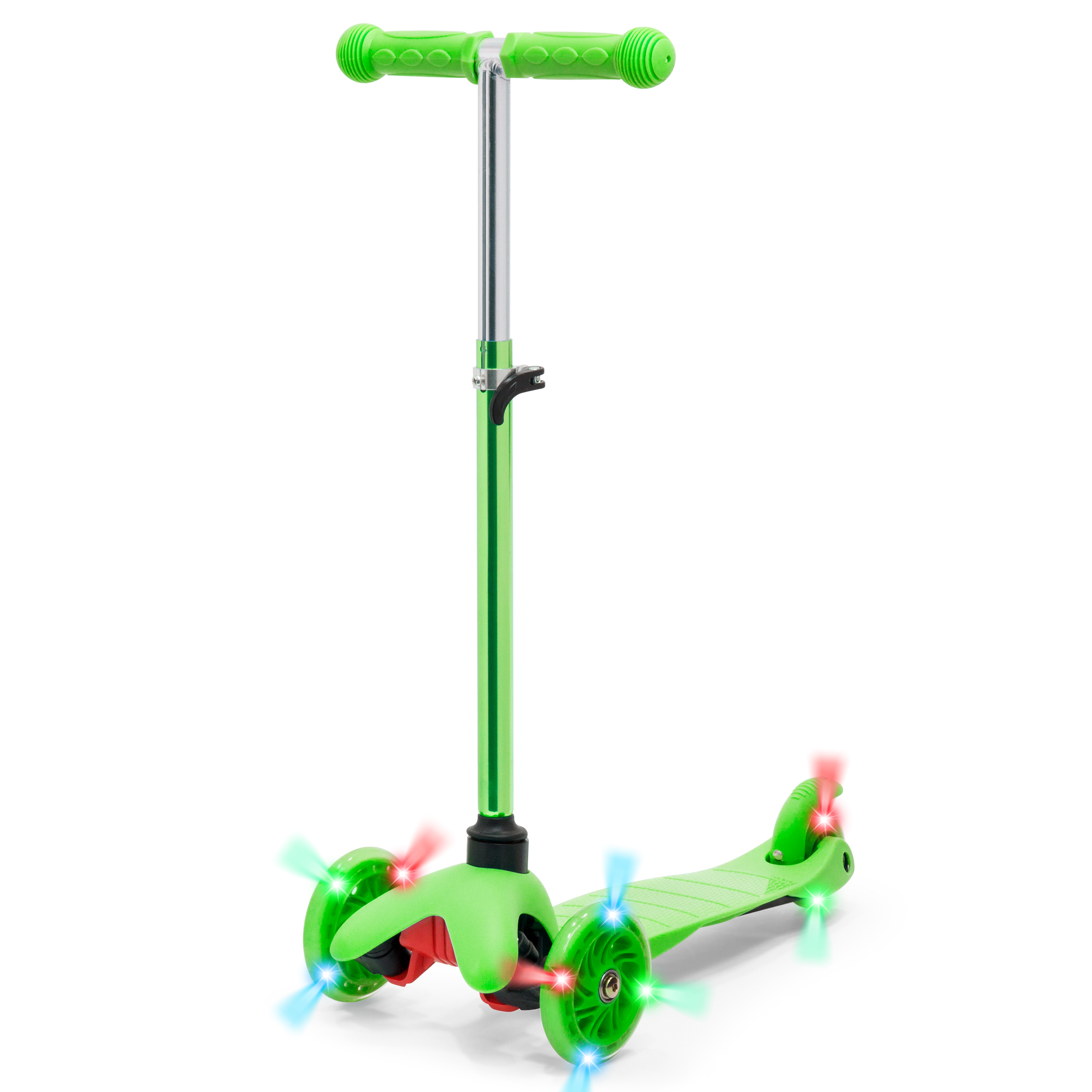 Best Choice Products Kids Mini Kick Scooter w  Light-Up Wheels and Height Adjustable T-Bar Green by Best Choice Products