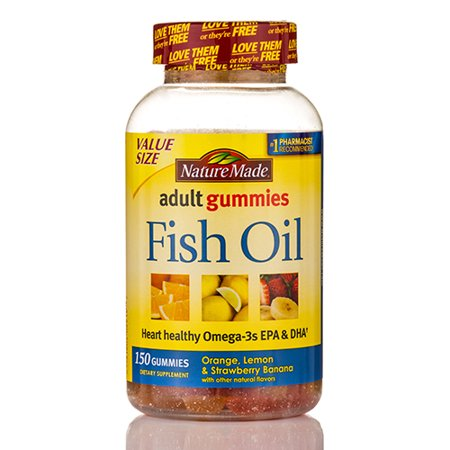 Adult gummies fish oil assorted flavors 150 gummies by for Nature made fish oil gummies
