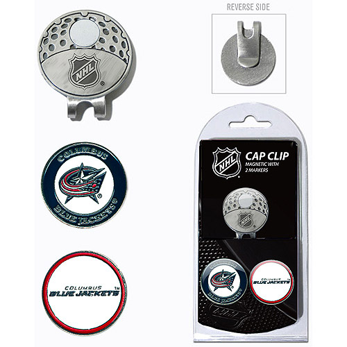 Team Golf NHL Columbus Blue Jackets Cap Clip With 2 Golf Ball Markers