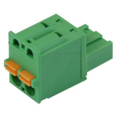 Imo Precision Controls Terminal Block Screwless 2 Pole 5 08Mm Pitch 2 Pack