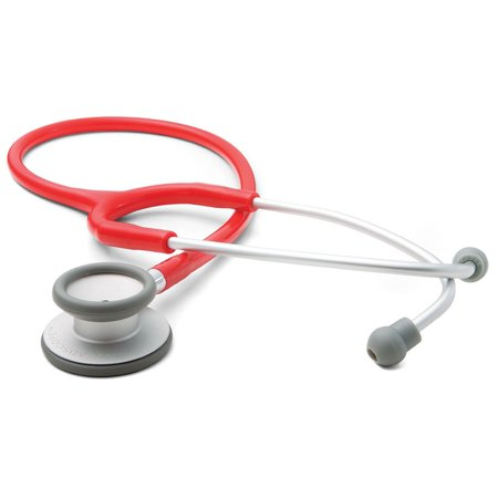 ADC Adscope Lite 609R Ultra Lightweight Clinician Stethoscope, 31 inch Length, Red