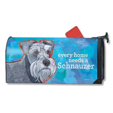 Magnet Works Mailwraps Schnauzer Dog Original Magnetic Mailbox Wrap Cover