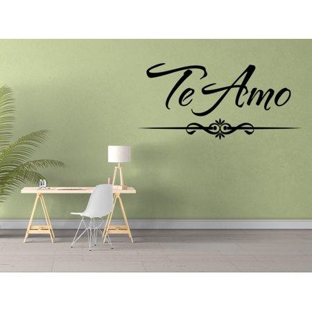 Vinilo Decorativo Para Pared Te Amo Wall Stickers Decal SQ35