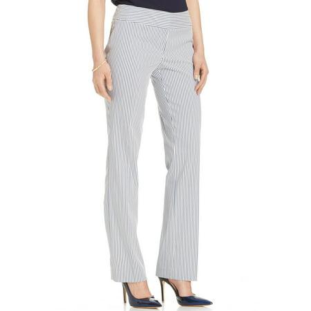 Nine West NEW Blue White Womens 14 Straight Leg Trouser Dress Pants  79   081 - Walmart.com 61b11caa69