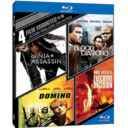 4 Film Favorites: Action Thrillers: Ninja Assassin / Blood Diamond / Domino / Executive Decision (Blu-ray) (Widescreen) WARBR427535