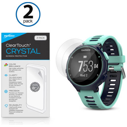 BoxWave ClearTouch Crystal HD Film Skin for Garmin Forerunner 735XT