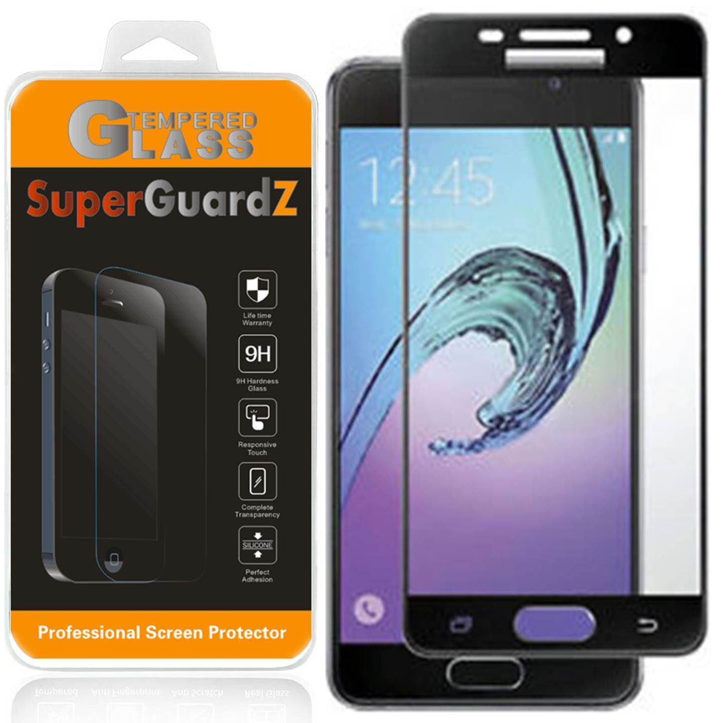 SuperGuardZ Full Cover Tempered Glass Screen Protector For Samsung Galaxy J7 Sky Pro / Samsung Galaxy J7 (2017)
