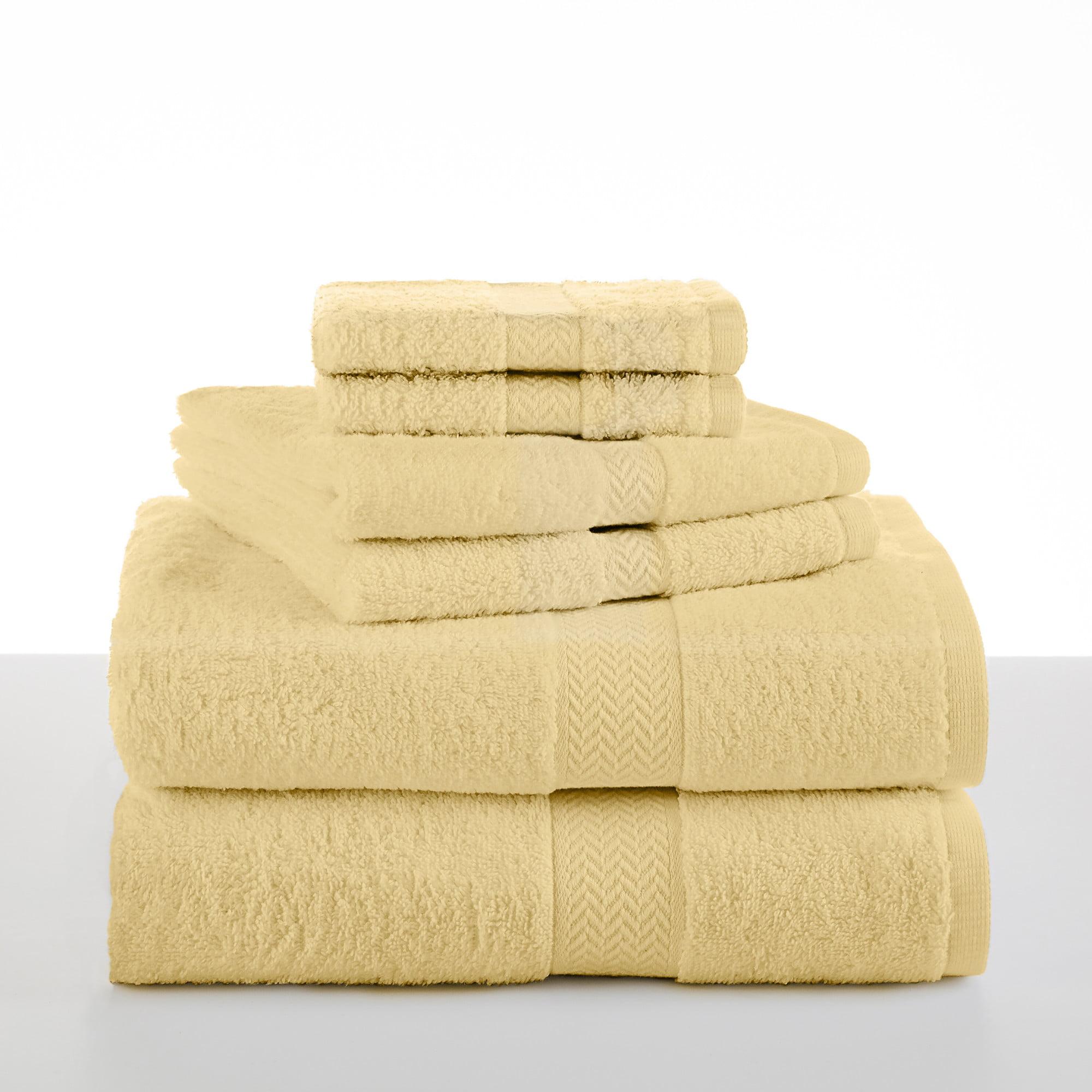 Ringspun Cotton 6-Piece Lemon Towel Set