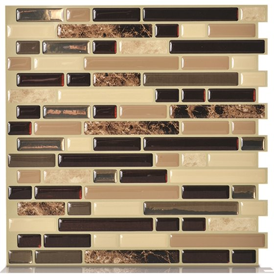 Peel and Stick Decorative Mosaic Wall Tile 10\