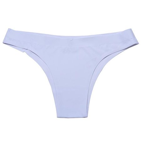 Women Invisible Underwear Thong Cotton Spandex Gas Seamless Crotch WH (Invisible Thong)