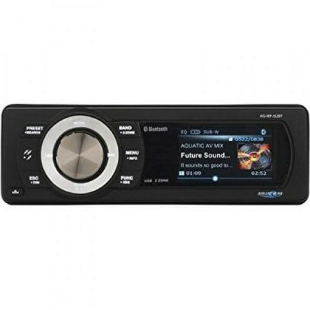 - Aquatic Av AQ-MP-5UBT Bluetooth and USB Waterproof Marine Stereo with Dock