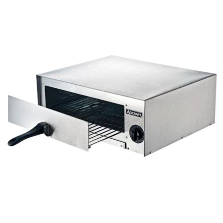 Image of AdCraft Countertop Stainless Steel Pizza Oven Silver, 120V, 1450 W 1 Each