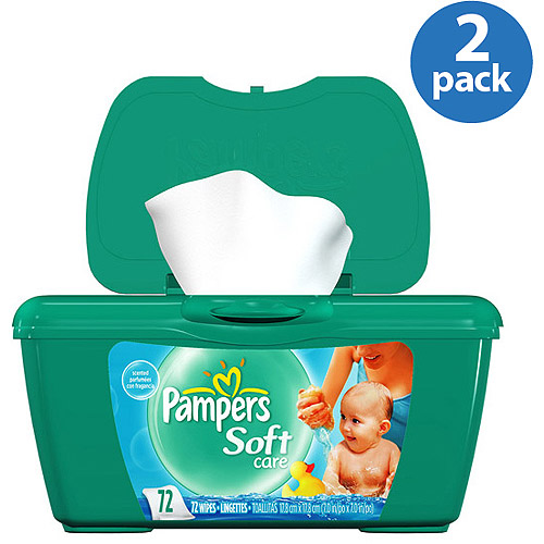 Pampers - Scented Soft Care Baby Wipes, Pop Up Tub (Pack of 2)