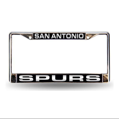 San Antonio Spurs Laser Etched Chrome License Plate Frame