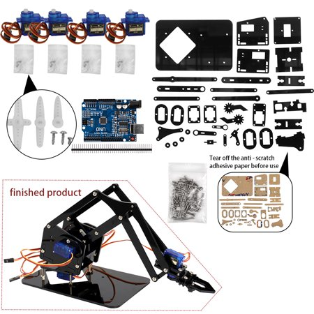 DIY Robot Hand Mechanical Arm Robotic Claw Set Suitable for SG90 UNO Desktop DIY Kit](Robot Kits For Adults)