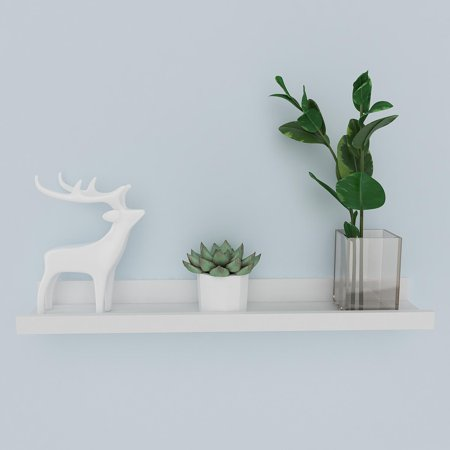 2 Sizes Easy Mount Floating Shelves Picture Display Ledge Wall