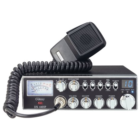 GALAXY DX44HP - 45 WATT 10 METER RADIO WITH DUAL MOFSET FINALS, VARIABLE OUTPUT POWER, TALKBACK,