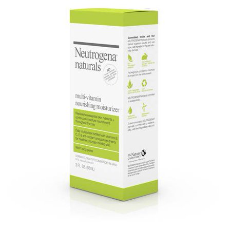 Neutrogena Naturals Multi-Vitamin Nourishing Daily Face Moisturizer with Antioxidant Bionutrients & Vitamins B, C & E, Non-Comedogenic & Sulfate-, Paraben-, Phthalate- & Dye-Free, 3 fl.