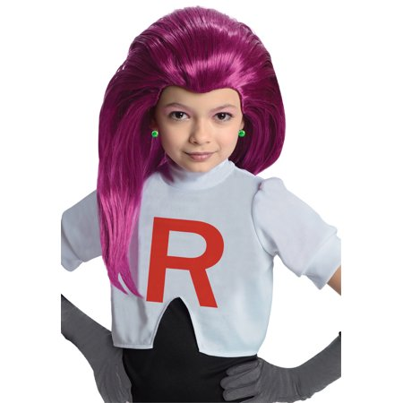 Pokemon Jessie Purple Costume Wig Child - Jessy Costume