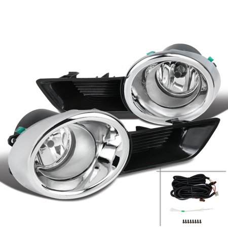 Spec-D Tuning For 2008-2010 Toyota Highlander Clear Lens Fog Bumper Lights W/ Bulbs + Switch 2008 2009 2010 -