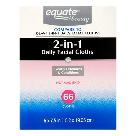(2 Pack) Equate Beauty Hydrating Cloths Everyday Facial, 66 Ct ()