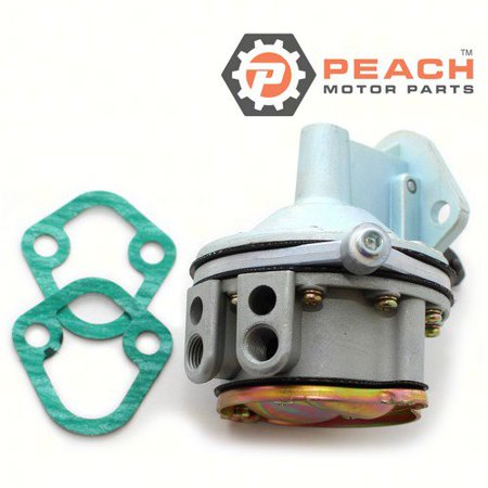 Peach Motor Parts PM-3855276  PM-3855276 Fuel Pump, Mechanical; Replaces OMC®: 3855276, 3853792, 0981650, 981650, Volvo Penta®: 3855276, Sierra®: 18-7268, GLM®: 77102, Mallory®: 9-35412, WSM®: 600-165