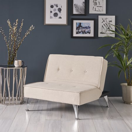 Noble House Rowland Fabric Click Clack Sofa Chair, Ivory (Sofa Chair)