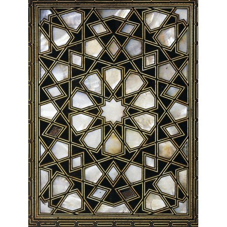 Wood and Mother of Pearl Quran Box Print Wall Art