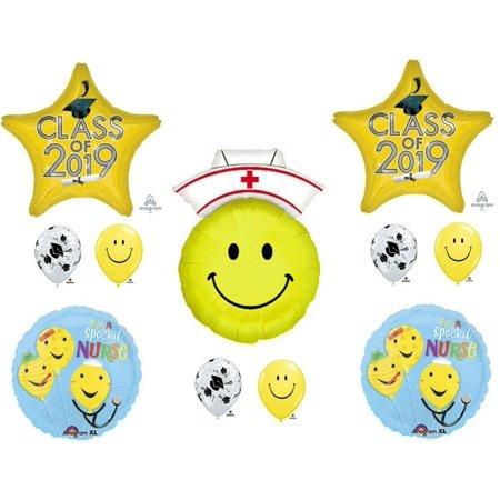 Nursing Class of 2019 Yellow Graduation Party Balloons Decoration Supplies Nurse