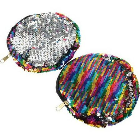 (Price/Each)U.S. Toy MX539 Rainbow Sequins Coin Purse](Rainbow Bag)