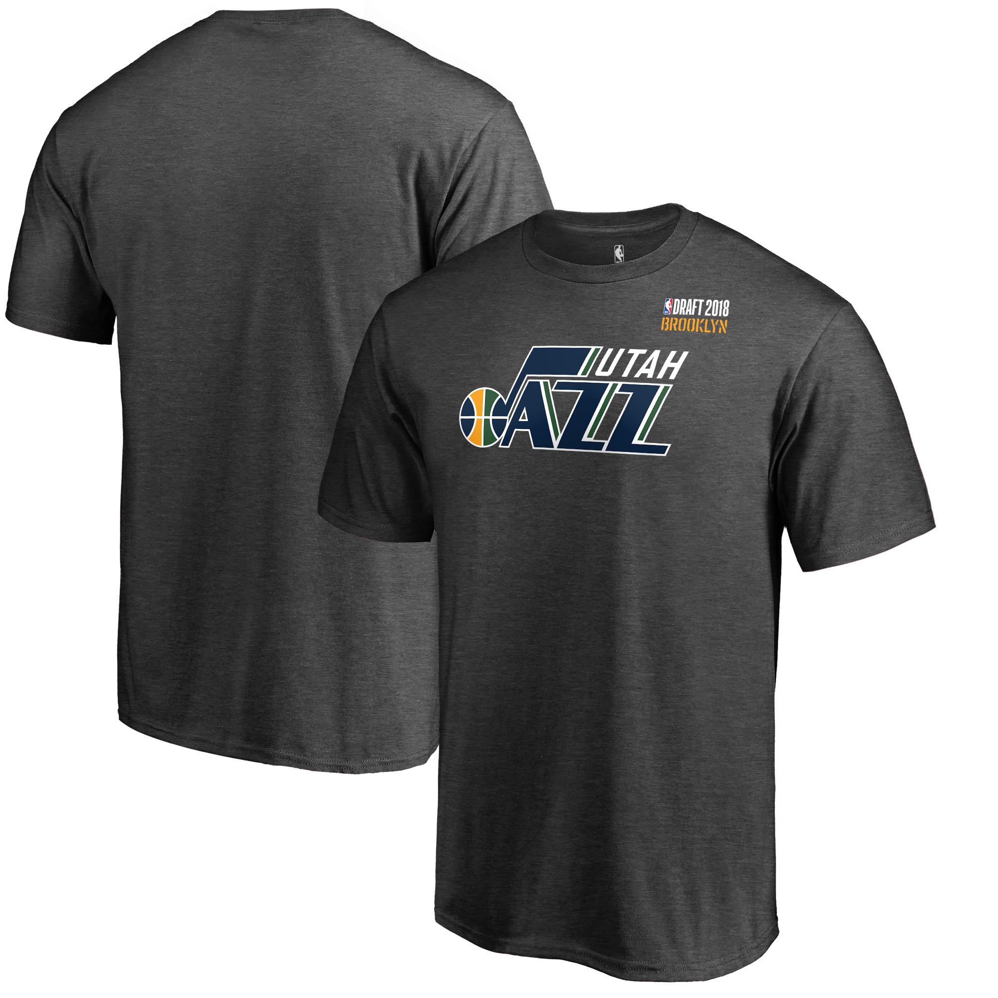 Utah Jazz Fanatics Branded 2018 NBA Draft BKLYN T-Shirt - Heather Gray