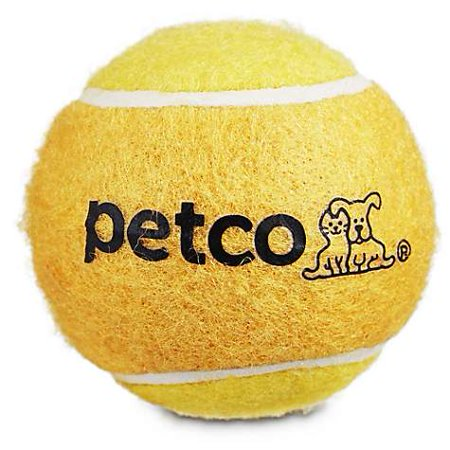 "Petco Tennis Ball Dog Toy in Yellow, 2.5"" (pack of 1)"