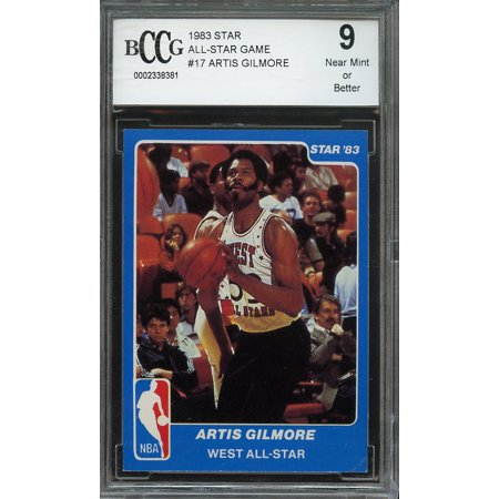 1983 star all-star game #17 ARTIS GILMORE san antonio spurs BGS BCCG 9