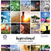 "Colorbok 12"" Inspirational Designer Paper Pad, 50 Piece"