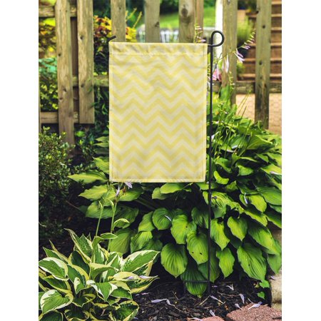 POGLIP Pale Yellow Chevron Zigzag Pattern That is and Abstract Chic Classic Garden Flag Decorative Flag House Banner 28x40 inch - image 1 of 2