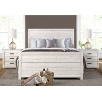 Carmel Bed - Queen Size - Antique White Finish