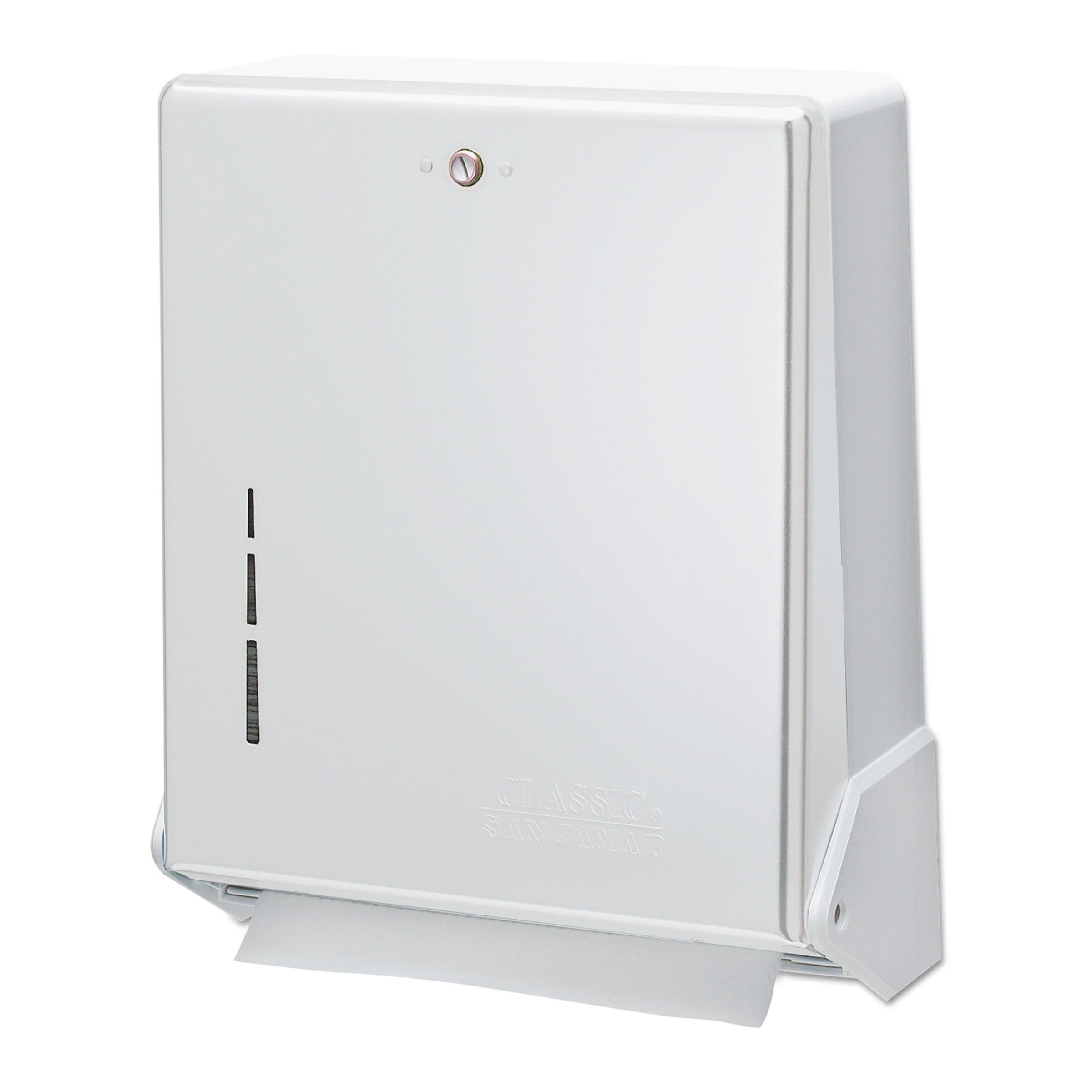 san jamar true fold paper towel dispenser white 11 - Paper Towel Dispenser