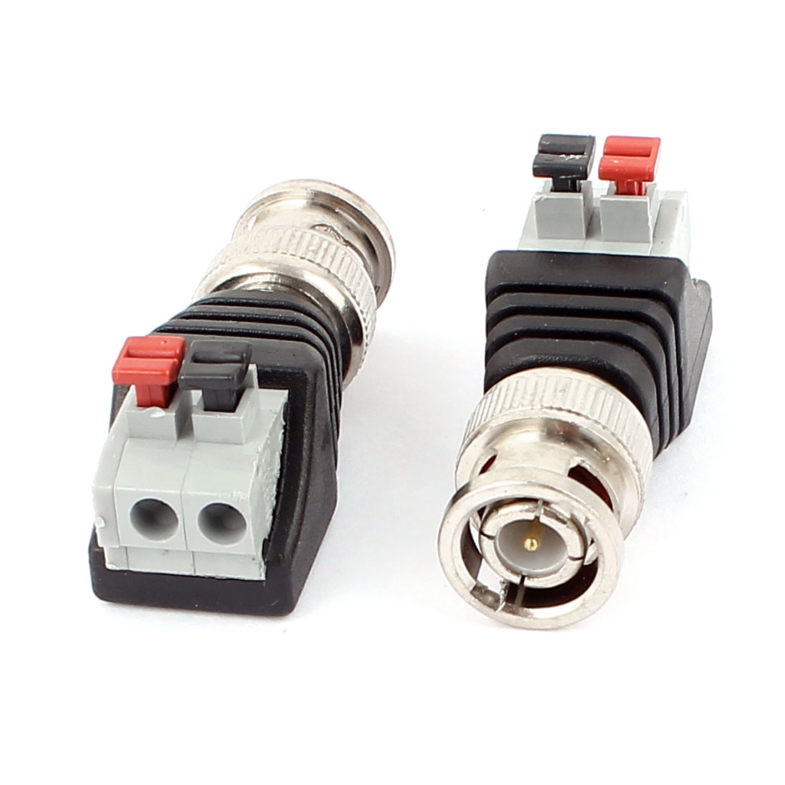 2 Pcs Clip Type Terminal Block Coaxial Cat5 to BNC Female Jack Connector - image 1 of 1