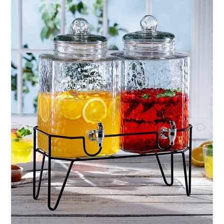 Style Setter Hamburg Set Of 2 Dispensers With Stand, 1.5 Gal -