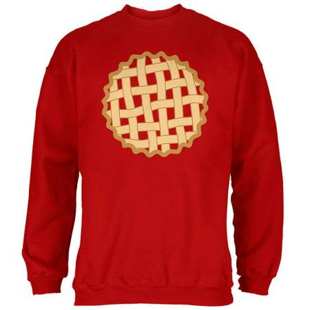 Halloween Lattice Pie Costume Strawberry Cherry Mens Sweatshirt