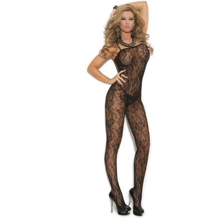 1349a1887e8 Elegant Moments EM-1610 Lace Bodystocking with open crotch also in plus  size Black ...