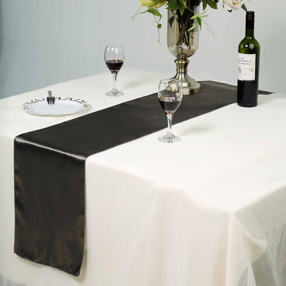 "Efavormart Premium SATIN Table Top Runner For Weddings Birthday Party Banquets Decor Fit Rectangle and Round Table 12"" x 108"""